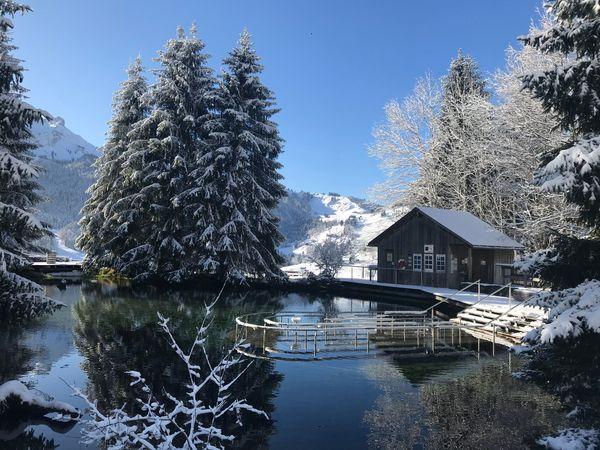 Winterwanderung zur Kneippanlage Schwandalpweiher in Flühli